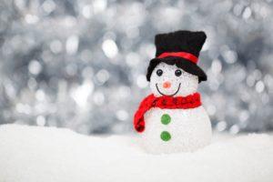 christmas, snow, snowman