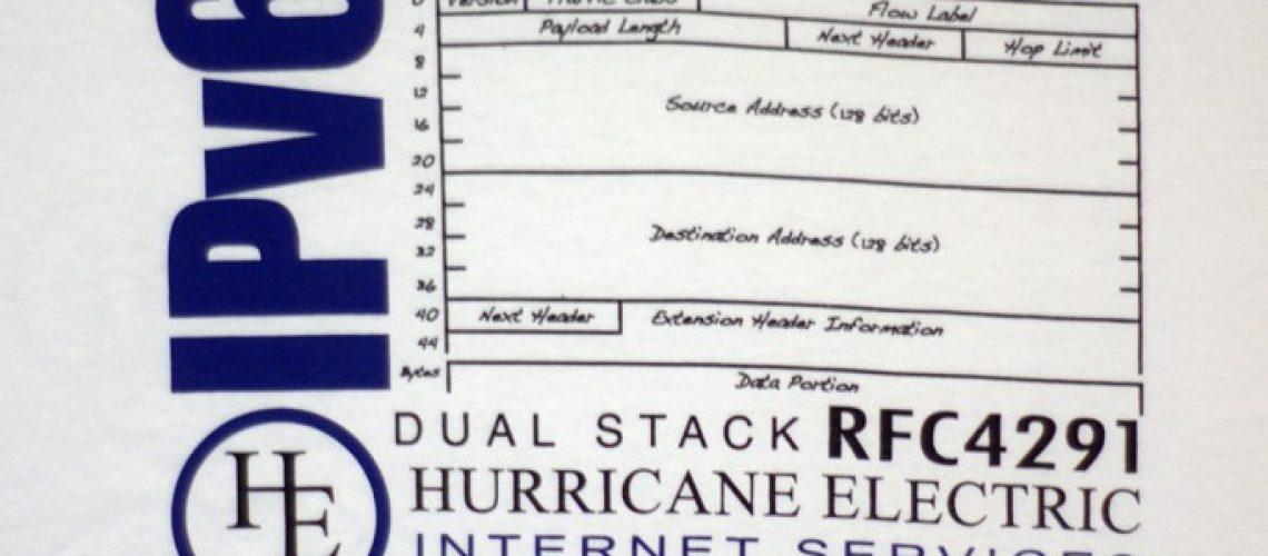 Hurricane Electric IPv6 sage T-shirt